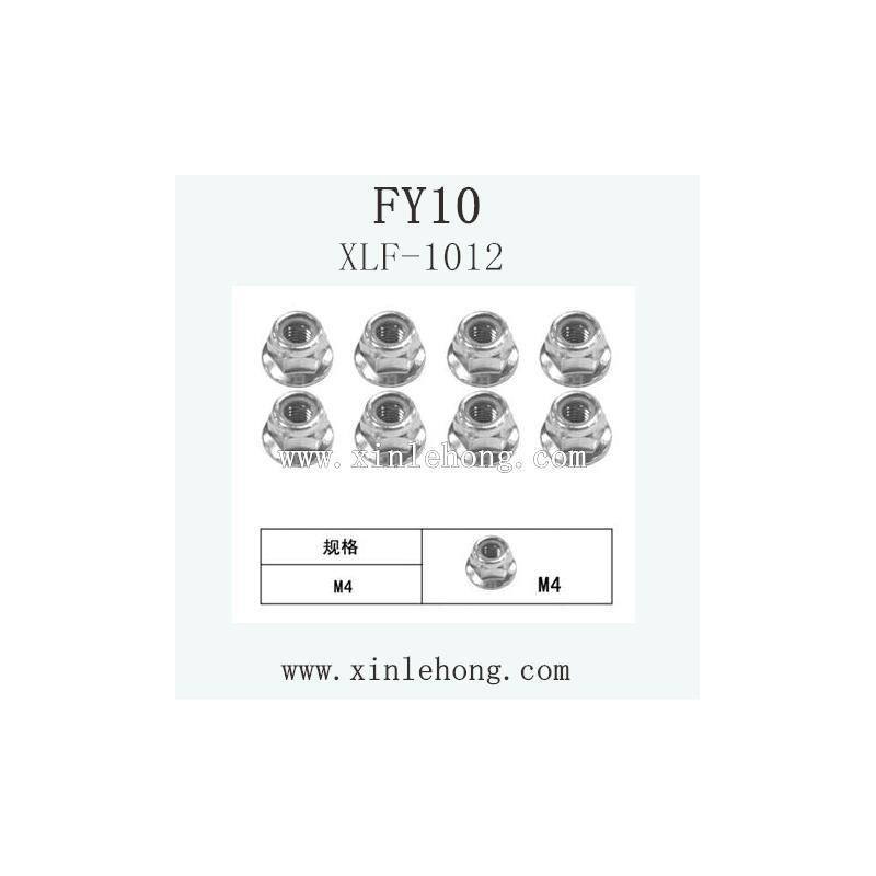 feiyue fy-10 car Parts Flange Locknut XLF-1012