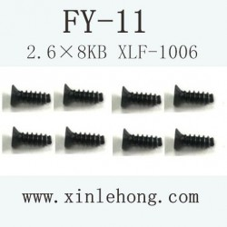 feiyue fy-11 car parts Screw 2.6×8KB XLF-1006