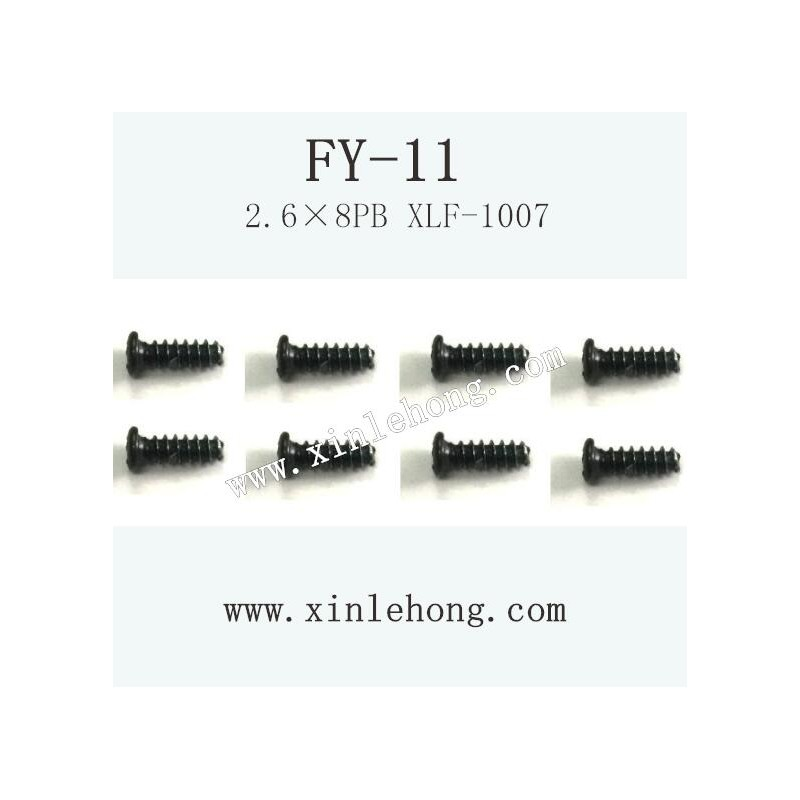 feiyue fy-11 car parts Screw 2.6×8PB XLF-1007