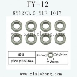 feiyue fy-12 car parts 8X12X3.5 Bearing XLF-1017