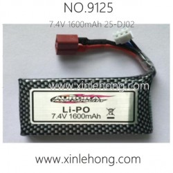 xinlehong 9125 CAR Battery 7.4V 1600mAh 25-DJ02