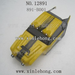 hbx 12891 car parts Car Shell Yellow 891-B001