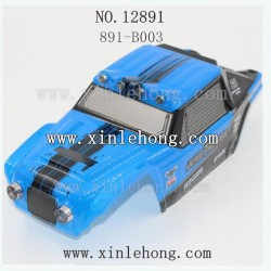 hbx 12891 car parts Car Shell Blue 891-B003