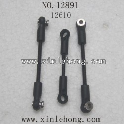 HBX 12891 Car parts Steering Links+Servo Links 12610