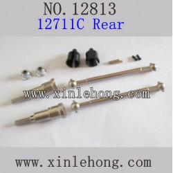 HBX 12813 survivor rc car parts Rear Upgrade Metal Drive Shafts 12711C