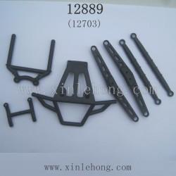 HBX 12889 Thruster RC Car Parts-Front Bumer