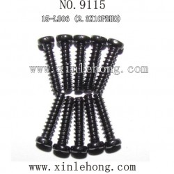 XINLEHONG TOYS 9115 Car parts-Round Headed Screw 15-LS06