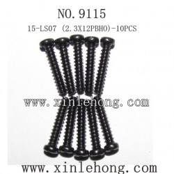 XINLEHONG TOYS 9115 Car parts-Round Headed Screw 15-LS07