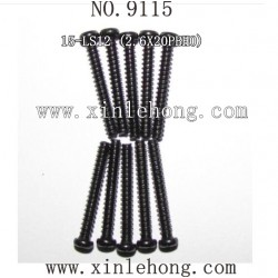 XINLEHONG Toys 9115 Car Parts, Round Headed Screw 15-LS12