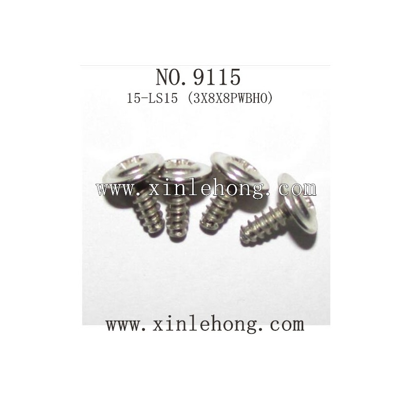 xinlehong toys 9115 car parts Round Headed Screw 15-LS15