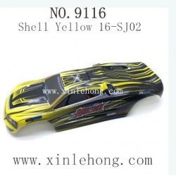XINLEHONG TOYS 9116 Parts-Car Shell Yellow 16-SJ02