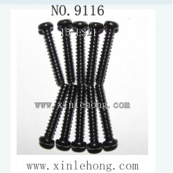 XINLEHONG TOYS 9116 parts Round Headed Screw 15-LS11 (2.6X15PBHO) -10PCS