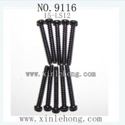 XINLEHONG Toys 9116 PARTS Round Headed Screw 15-LS12 (2.6X20PBHO) -10PCS