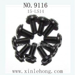 XINLEHONG TOYS 9116 CAR PARTS Round Headed Screw 15-LS14 10PCS