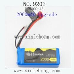 PXTOYS 9202 CAR PARTS Battery 7.4V 2000mAh